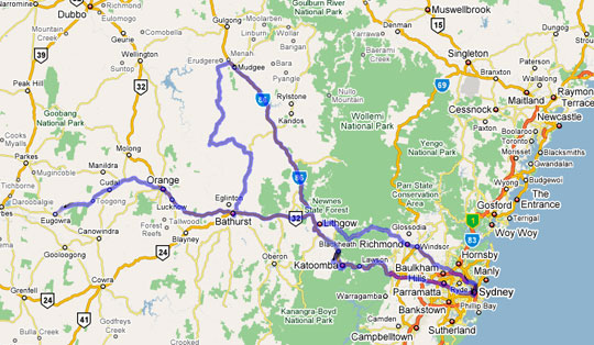 Mudgee Australia  city images : There are no set departure days for this tour, as it will proceed on ...